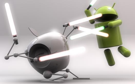 apple vs google war mobile
